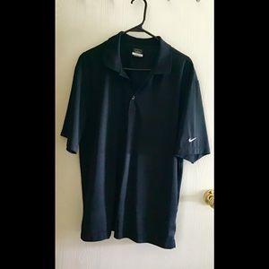 Nike golf shirt black size large dri fit shirt